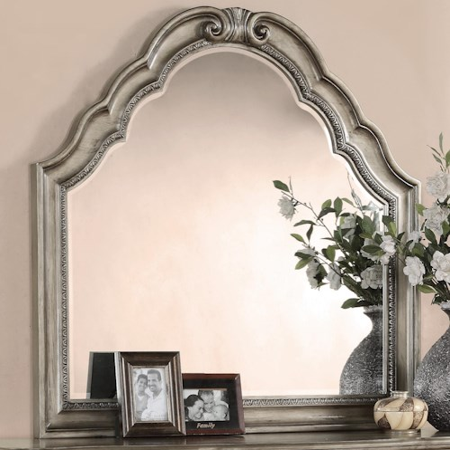 Flexsteel Wynwood Collection San Cristobal Mirror with Wood Frame