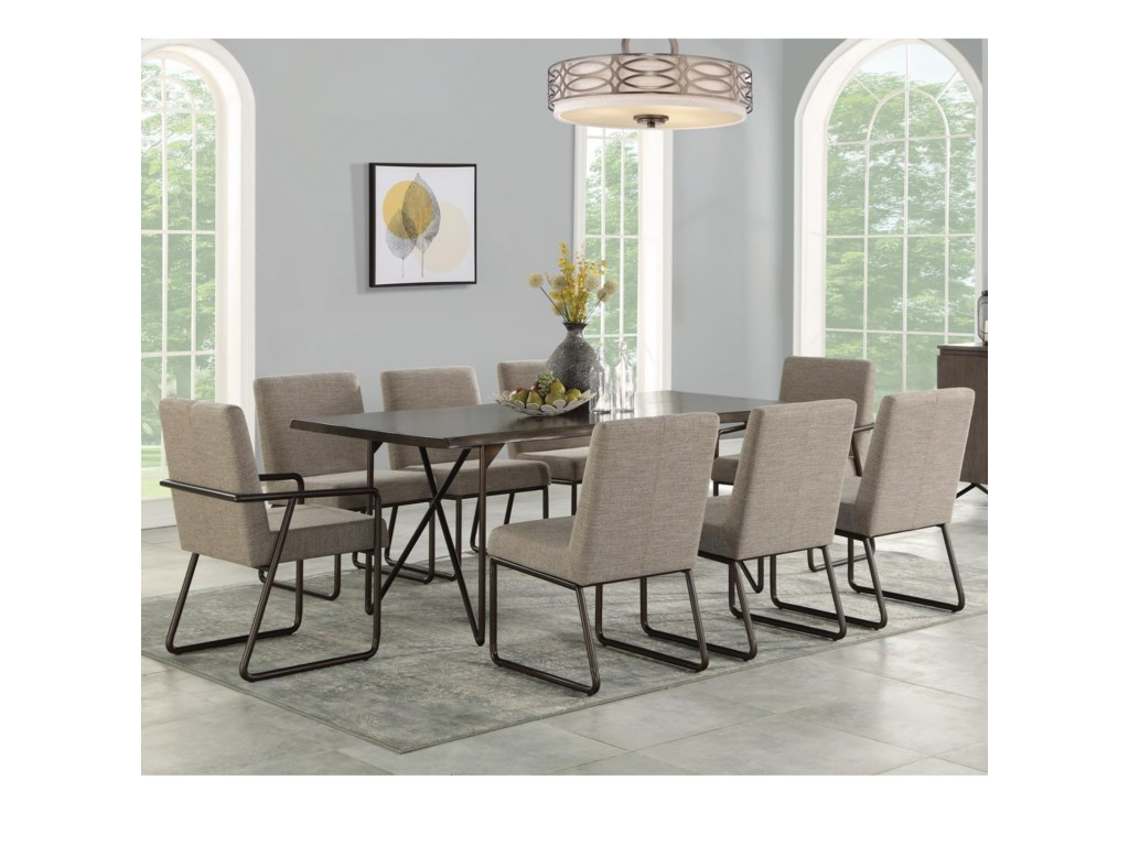 Flexsteel Shadow9-Piece Table and Chair Set