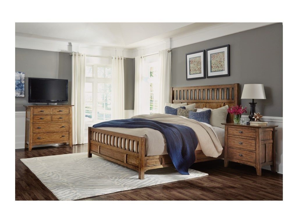 Wynwood, A Flexsteel Company SonoraQueen Bedroom Group with Media Chest