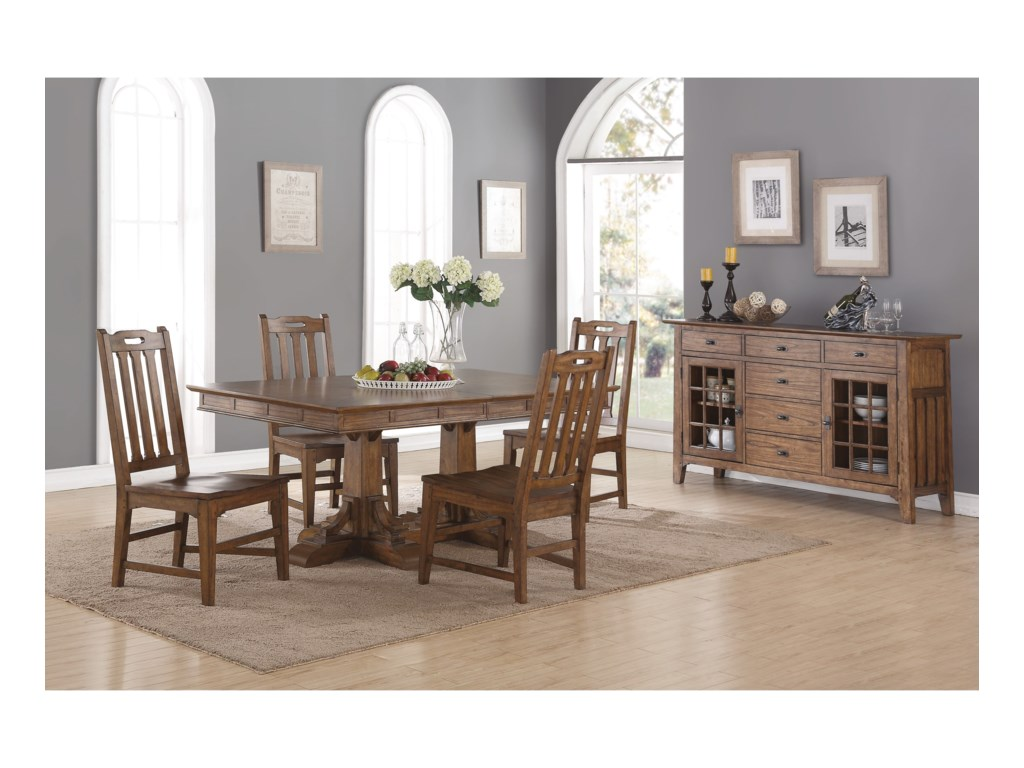 Flexsteel Wynwood Collection Sonora Casual Dining Room Group with ...