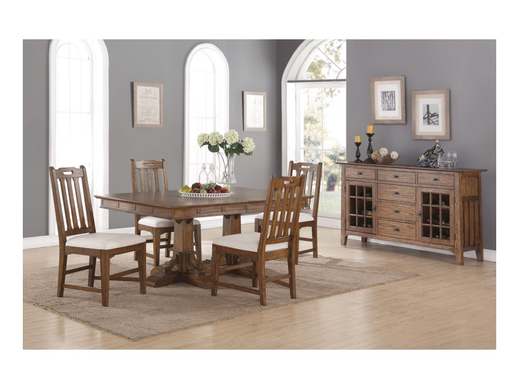 Flexsteel Wynwood Collection SonoraCasual Dining Room Group