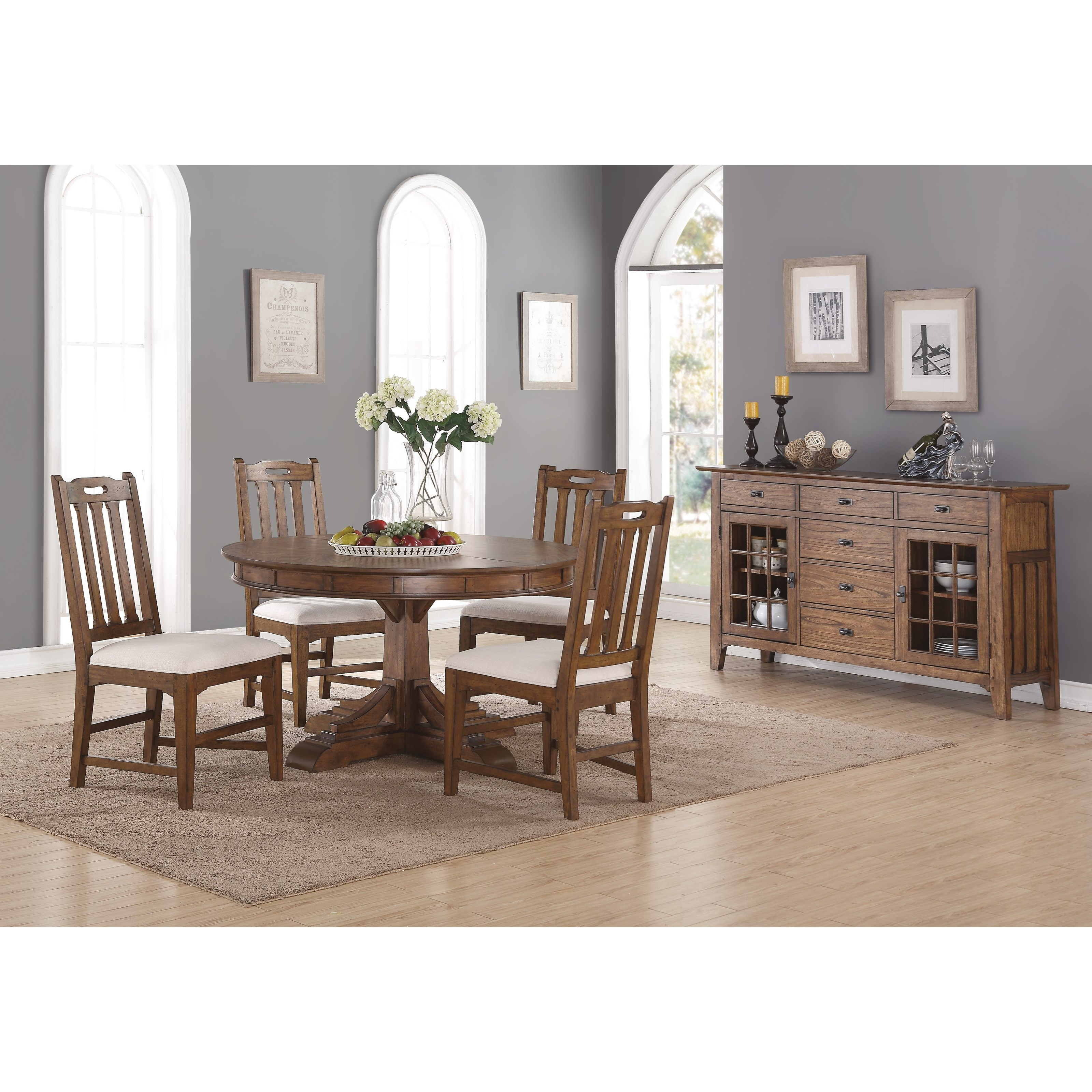 Flexsteel Wynwood Collection Sonora Casual Dining Room Group With  Upholstered Chairs   John V Schultz Furniture   Casual Dining Room Groups