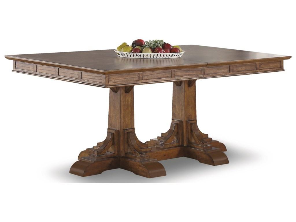 rectangle rectangular has dining double pin room concrete lakeview a table our pedestal top