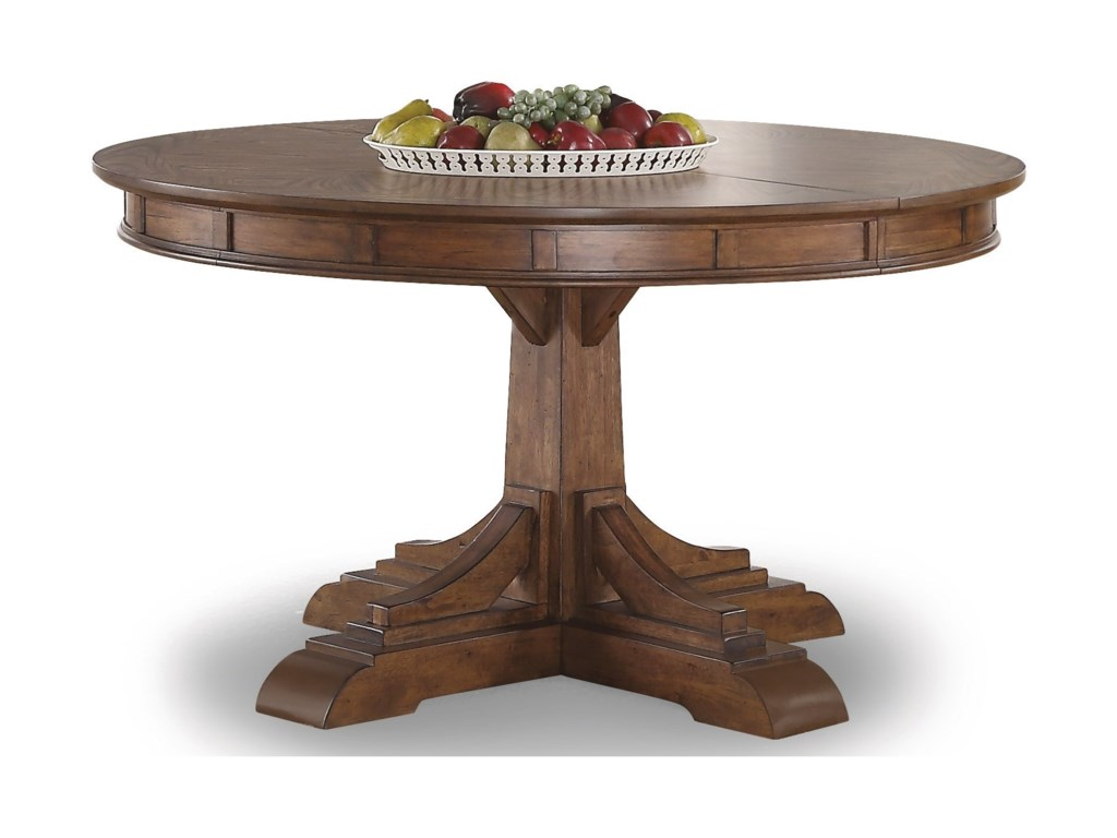 Flexsteel wynwood collection sonoraround pedestal dining table