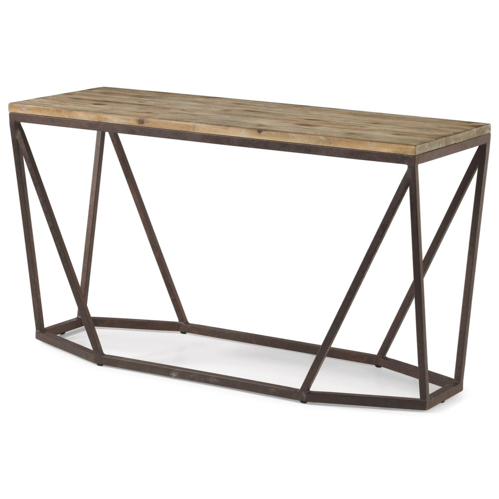 Flexsteel Wynwood Collection Spectrum Contemporary Sofa Table With