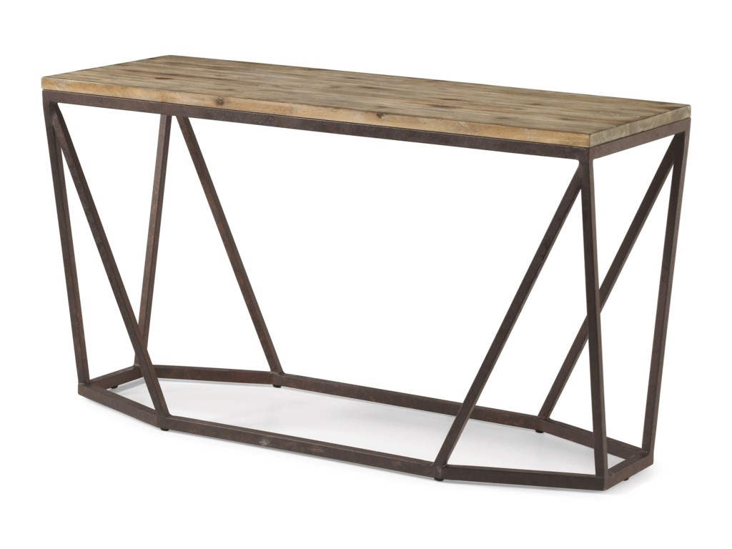 Flexsteel Wynwood Collection Spectrum Contemporary Sofa Table with ...