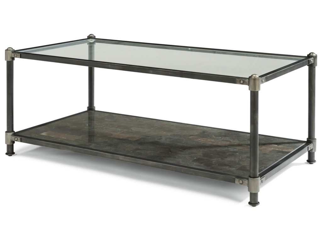 Flexsteel Wynwood Collection VaporIndustrial Rectangular Cocktail Table