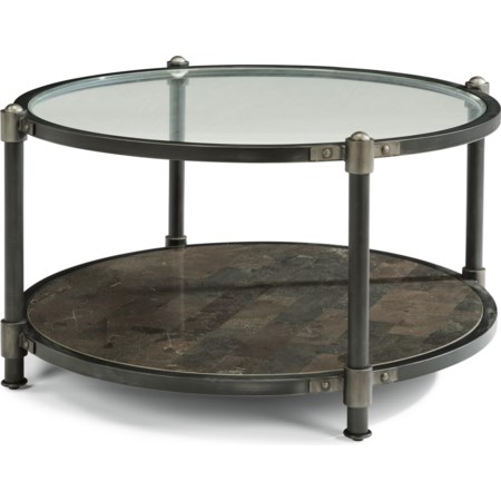 Industrial Round Cocktail Table