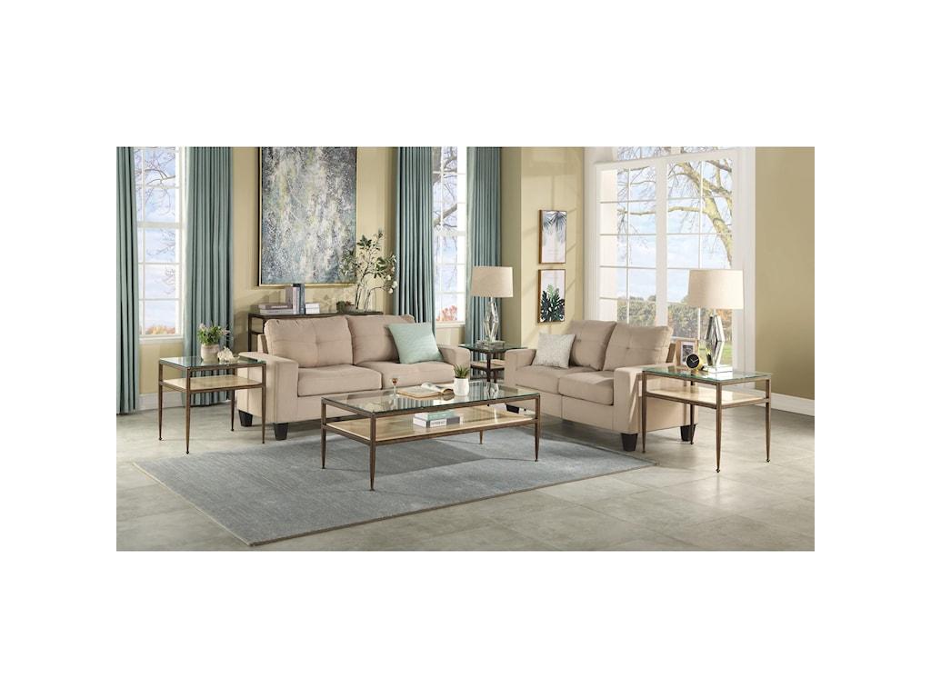 Flexsteel Wynwood Collection VeniceChairside Table