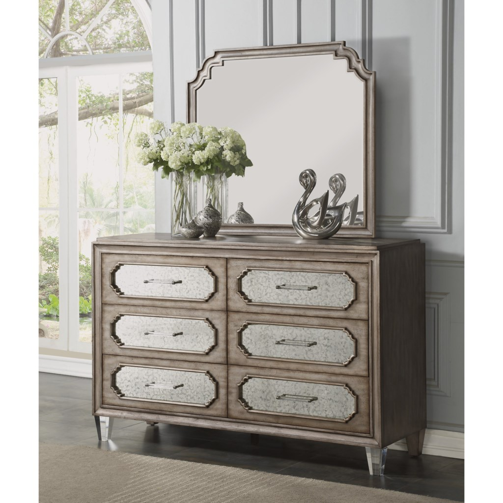 Flexsteel Wynwood Collection Vogue Transitional 6 Drawer Dresser