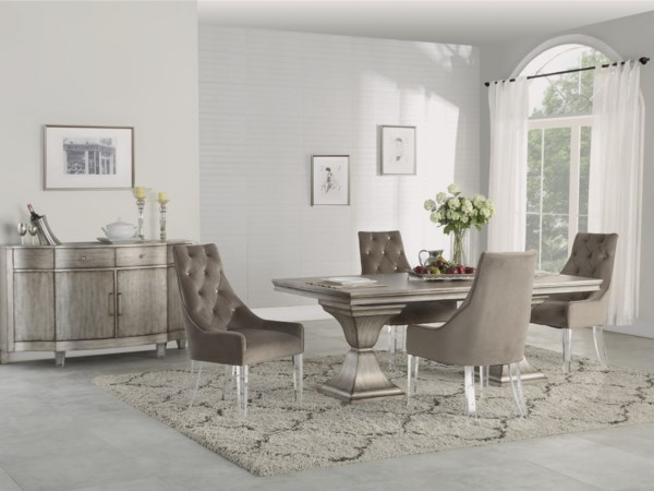 Dining Group Vogue By Flexsteel Wynwood Collection 5 395 99 Casual Room