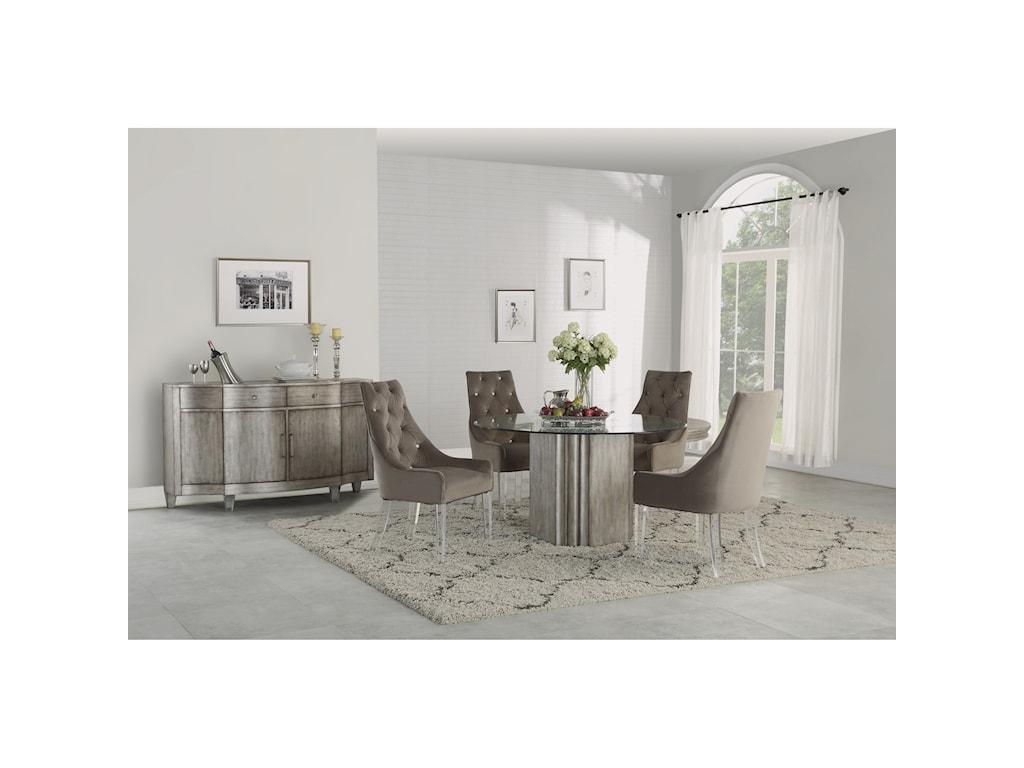 Flexsteel Wynwood Collection VoguePedestal Dining Table