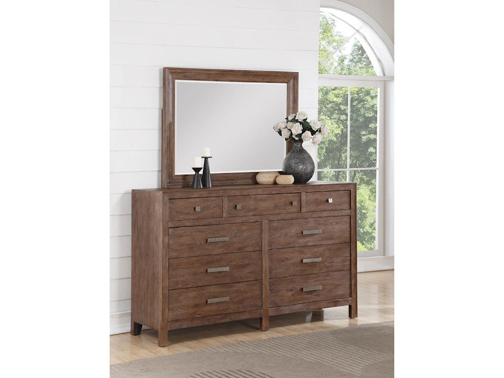 Flexsteel Wynwood Collection Hampton Bedroom GroupMirror