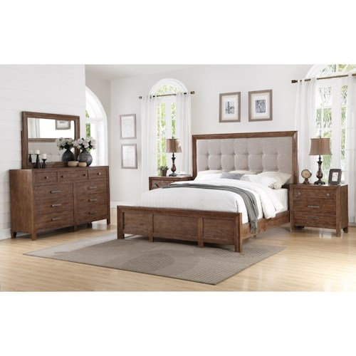 Flexsteel Wynwood Collection Hampton Bedroom Group Rustic King Bedroom Group