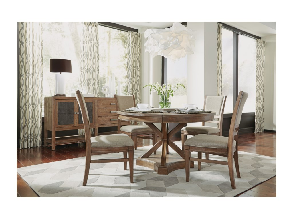 Hampton Dining Group Rustic Casual Dining Room Group by Flexsteel Wynwood  Collection at Fashion Furniture