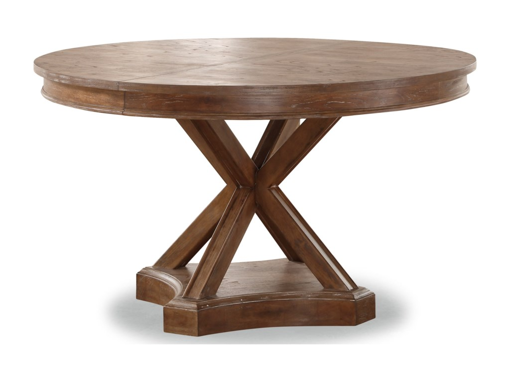 Flexsteel Wynwood Collection Hampton Dining Group Rustic Round - Rustic round breakfast table