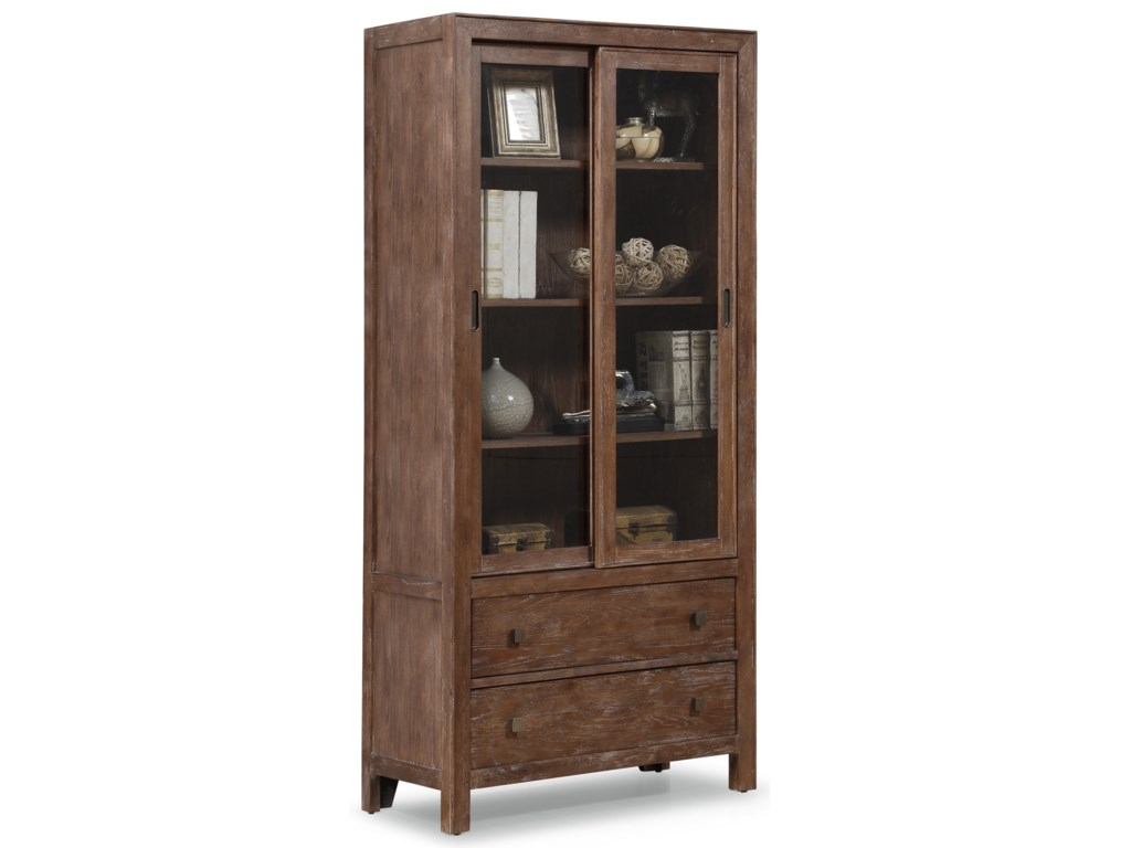 Flexsteel Wynwood Collection Hampton Home Office GroupSliding Door Bookcase