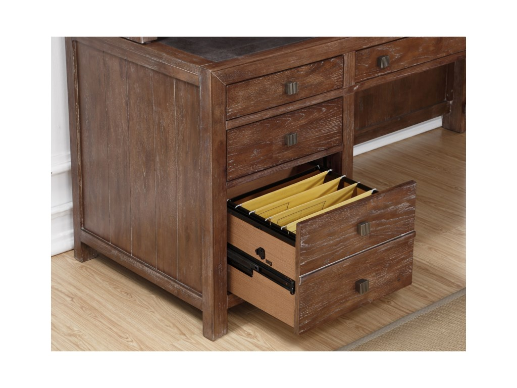 Flexsteel Wynwood Collection Hampton Home Office GroupL-Shaped Desk with Hutch