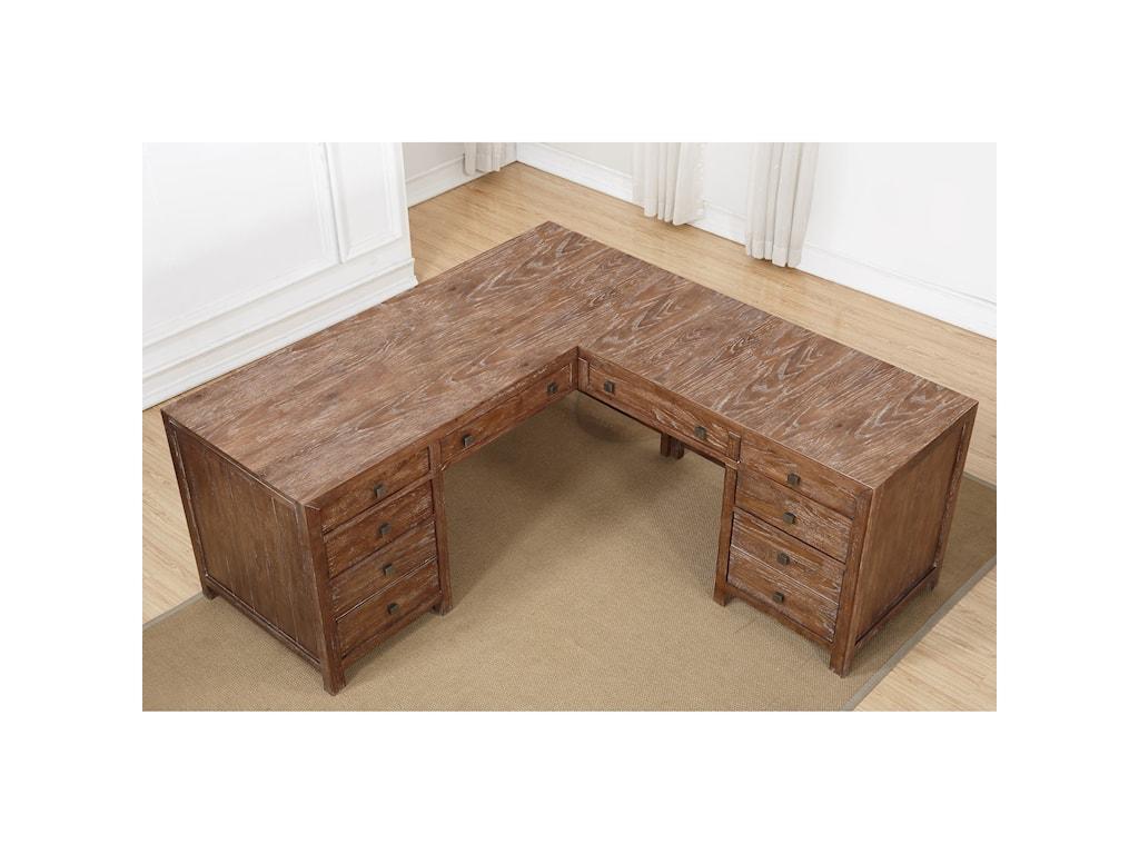 Flexsteel Wynwood Collection Hampton Home Office GroupL-Shaped Desk
