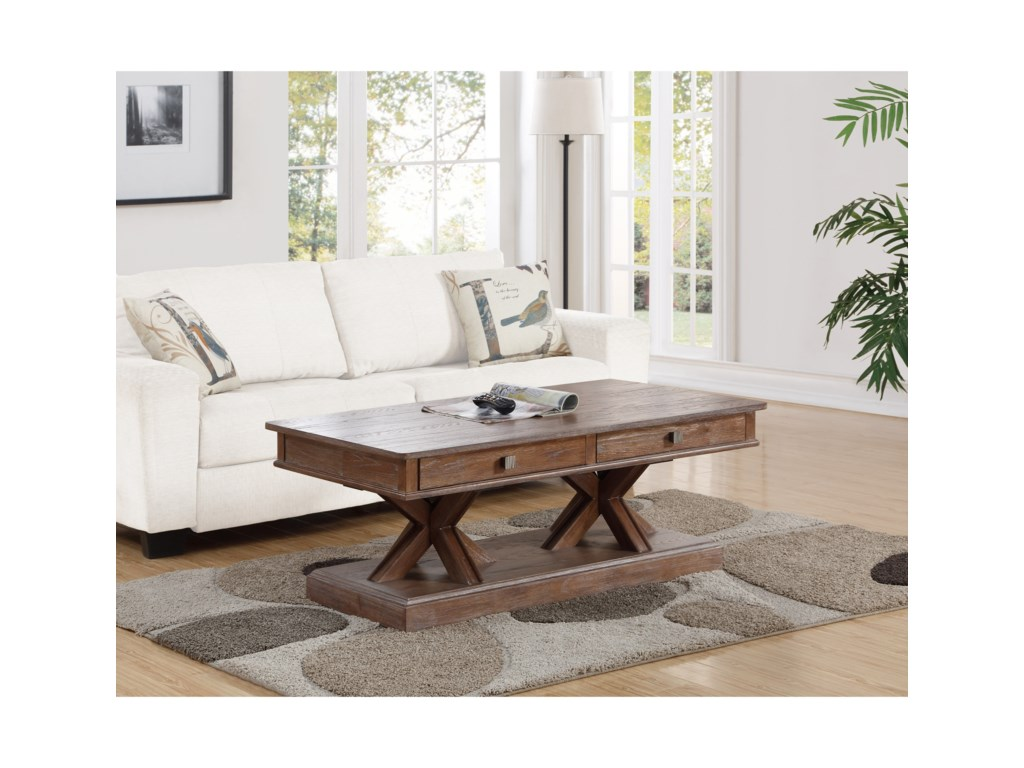 Flexsteel Wynwood Collection Hampton Occasional Group Rectangular Cocktail Table
