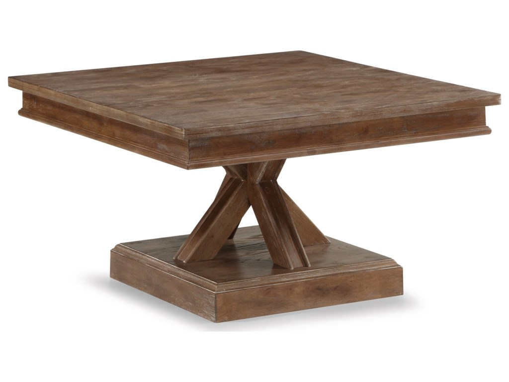Flexsteel Wynwood Collection Hampton Occasional Group Square Cocktail Table