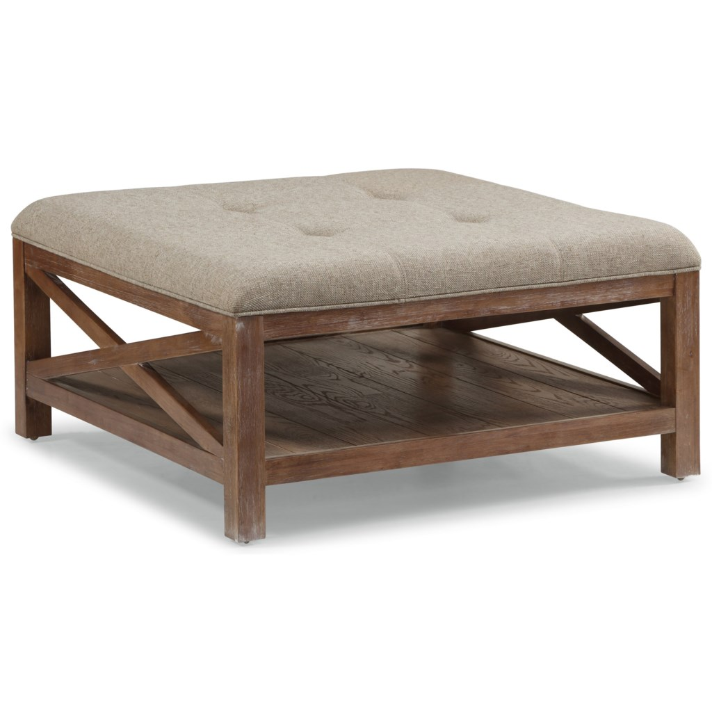 Flexsteel wynwood collection hampton occasional group cocktail ottoman