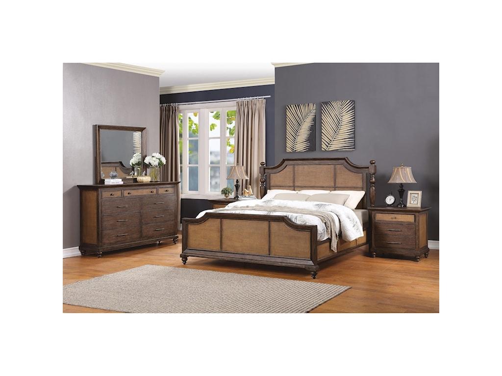 Flexsteel Wynwood Collection WakefieldKing Poster Bed