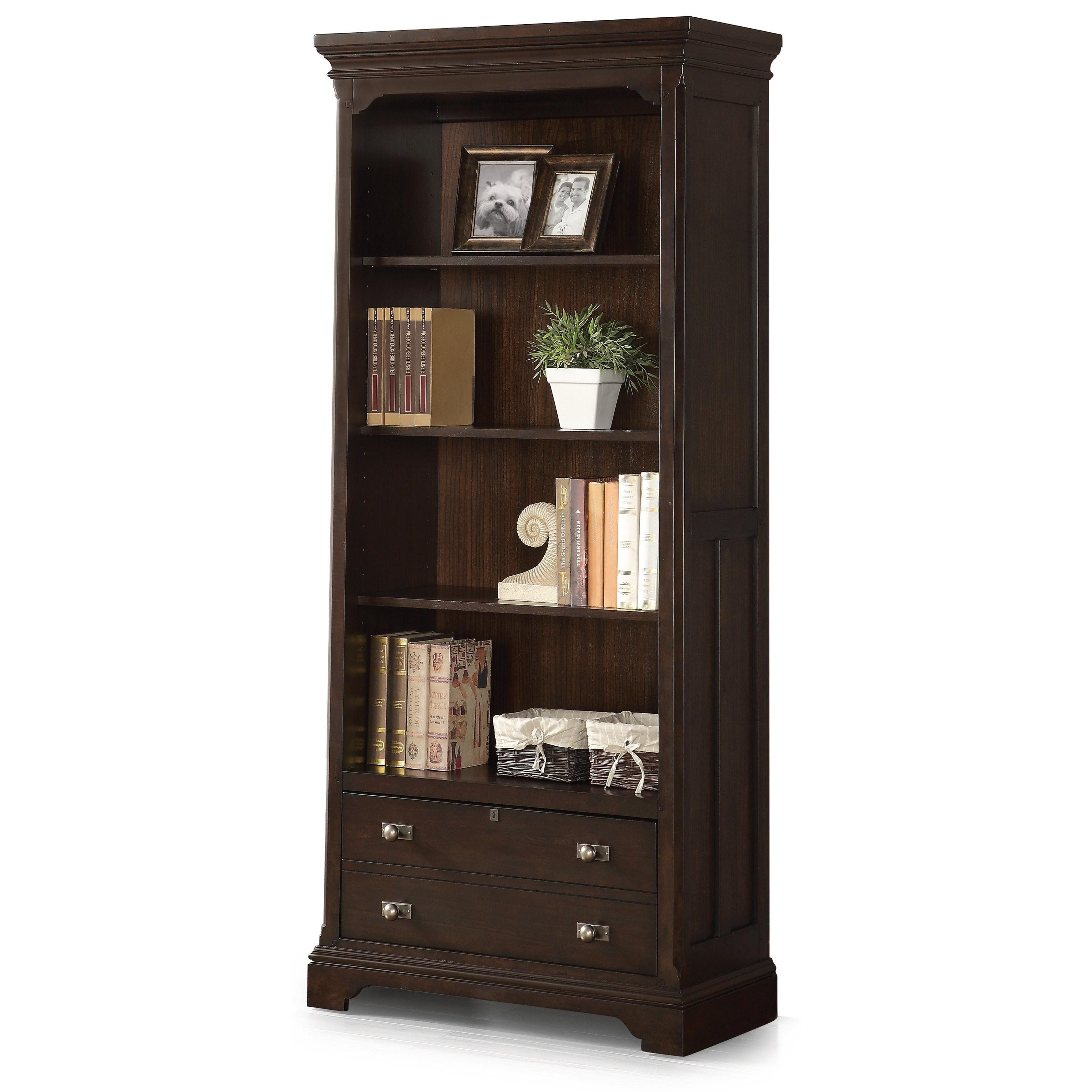 Flexsteel Wynwood Collection Walnut CreekBunching Bookcase ...