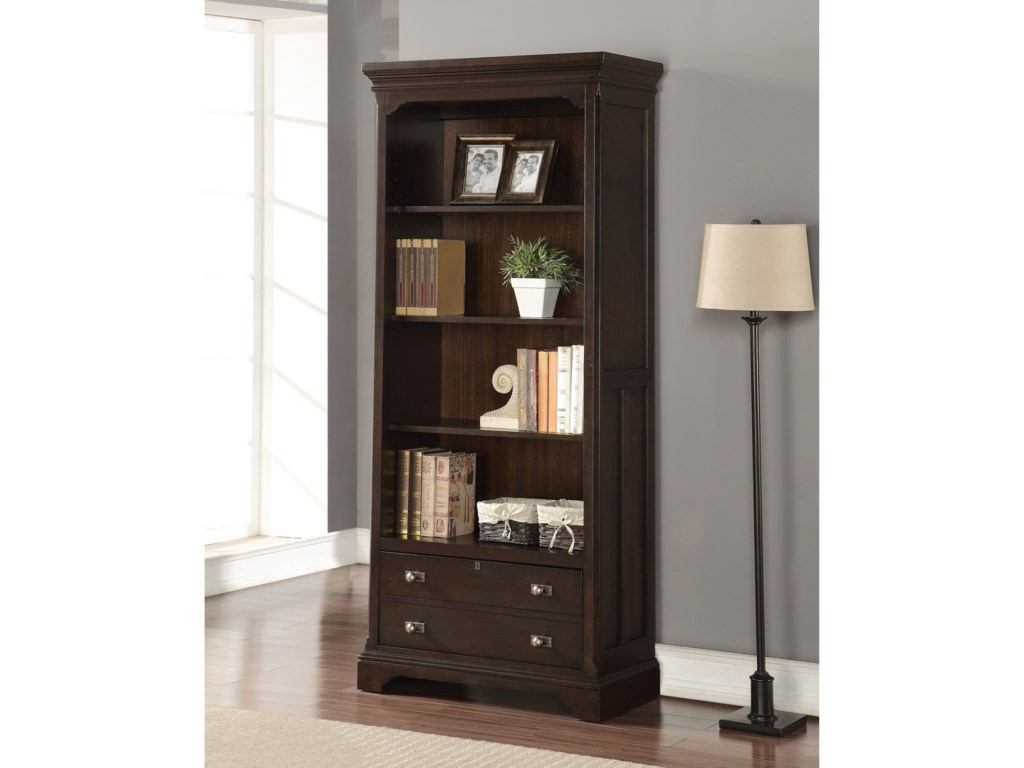 Flexsteel Wynwood Collection Walnut CreekBunching Bookcase