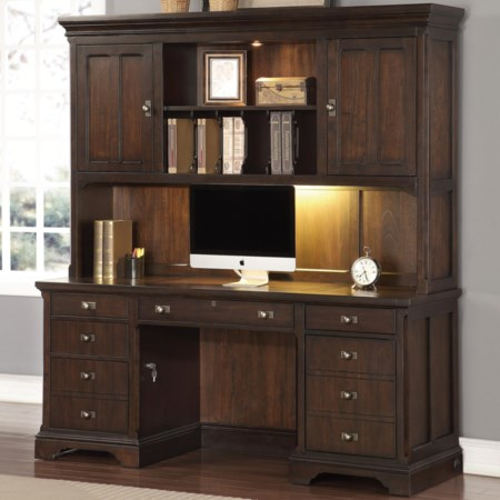Executive Credenza with Hutch