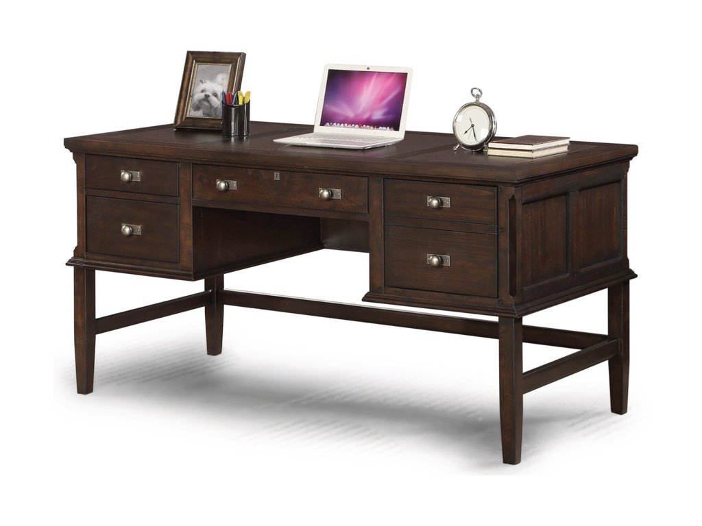 Flexsteel wynwood collection walnut creeksmall writing desk
