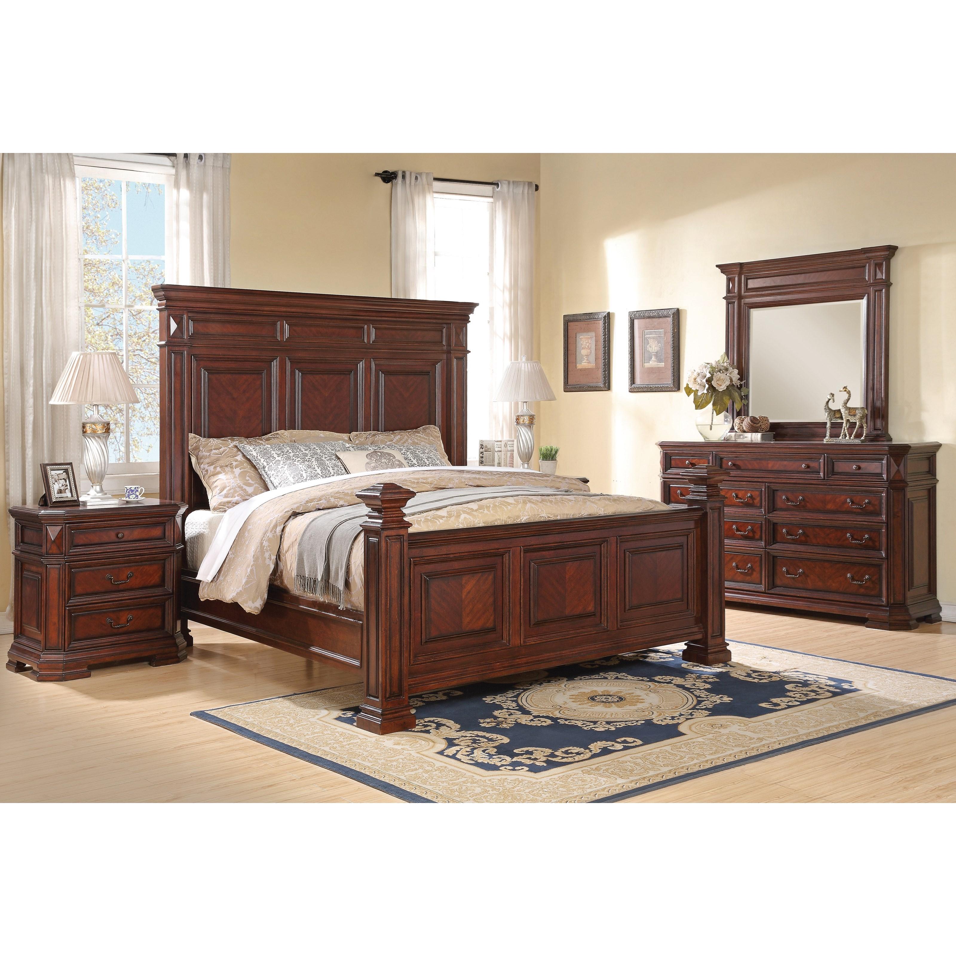 flexsteel wynwood collection westchester traditional queen bedroom group