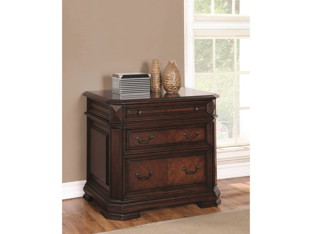 Flexsteel Wynwood Collection WestchesterTraditional Lateral File Cabinet