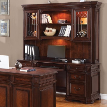 Traditional Desk and Hutch