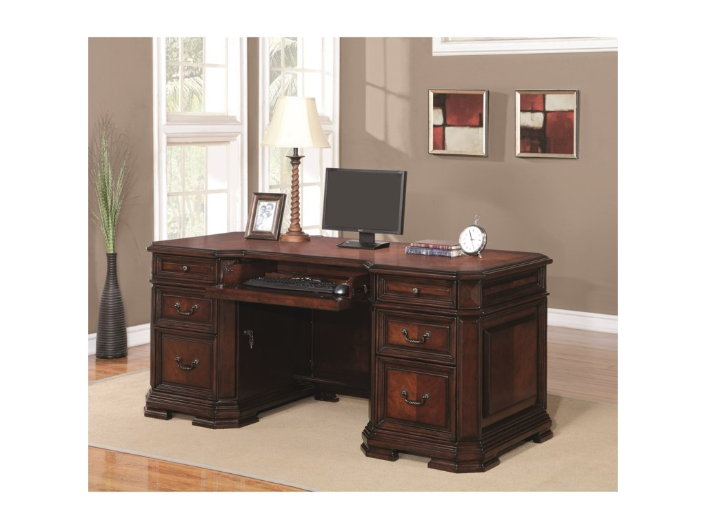 Flexsteel Wynwood Collection WestchesterTraditional Executive Desk