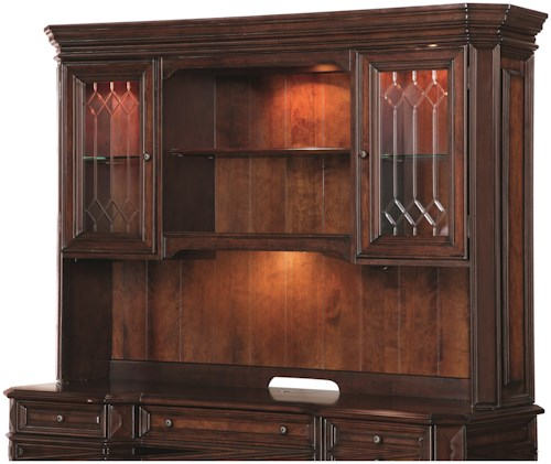 Flexsteel Wynwood Collection Westchester Traditional Hutch with Locking Glass Doors