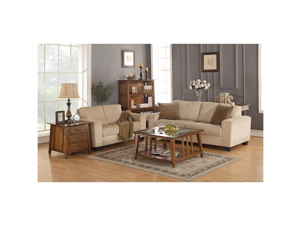 Flexsteel Wynwood Collection WindsorMission End Table