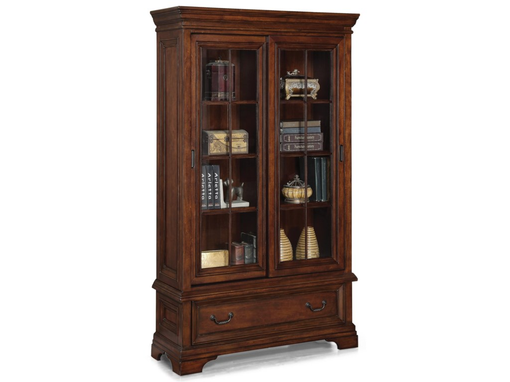 Flexsteel Wynwood Collection WoodlandsSliding Door Bookcase