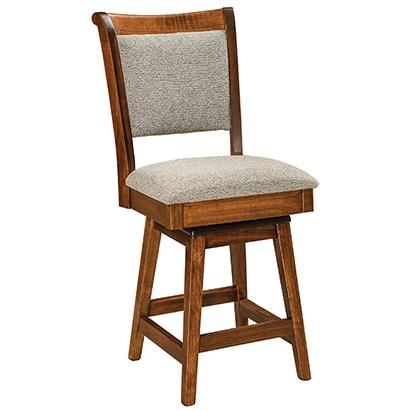 "Customizable Upholstered Solid Wood 30"" Swivel Bar Stool"