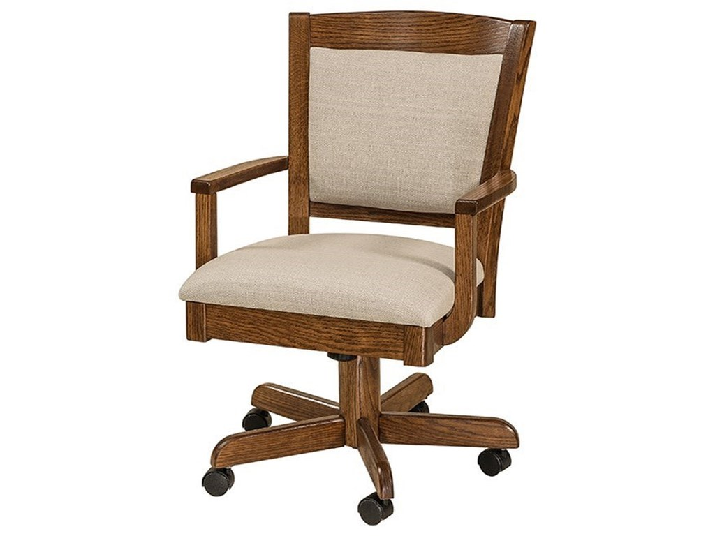 F&N Woodworking AkronCustomizable Solid Wood Desk Chair