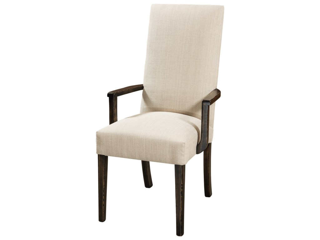 F&N Woodworking SheldonCustomizable Solid Wood Dining Arm Chair