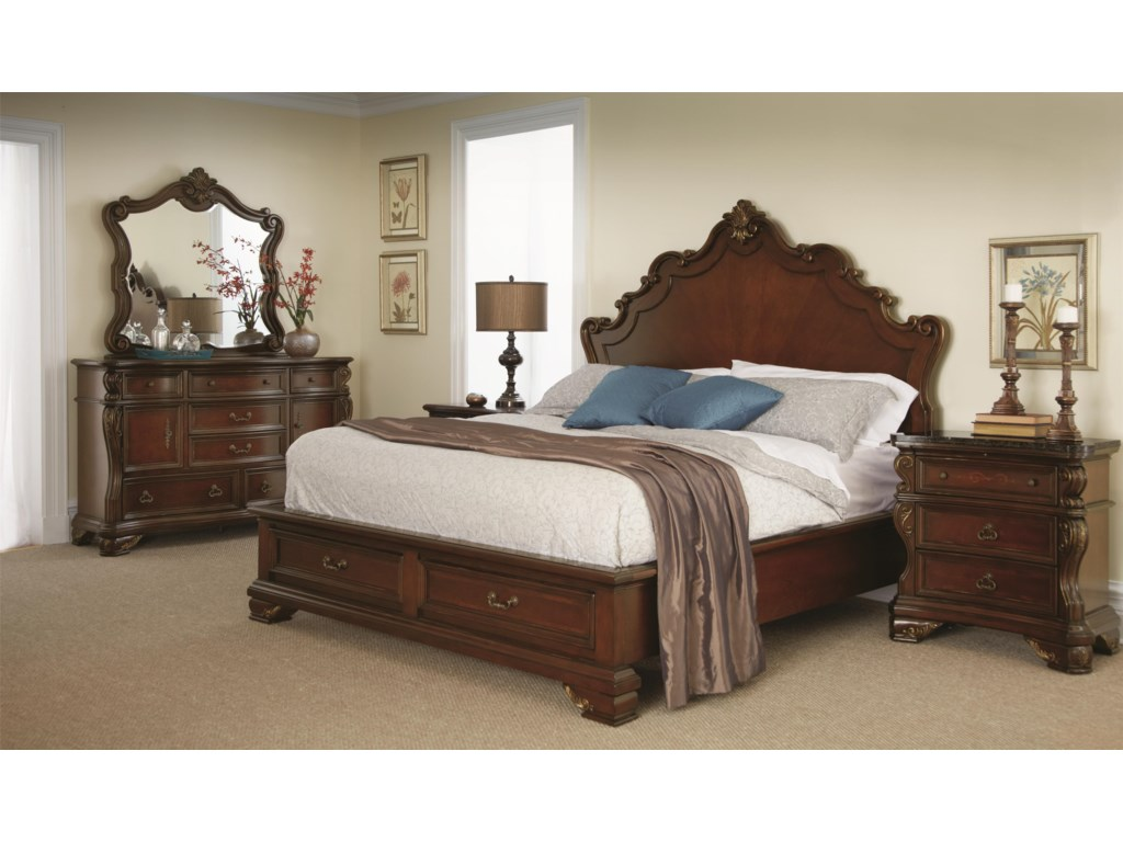 Shown with Dresser, Mirror, and Nightstand