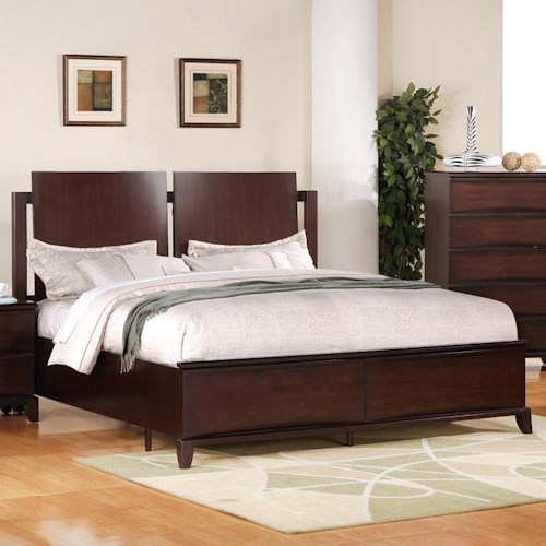Folio 21 Continental Queen Bed With Contemporary Panel Headboard