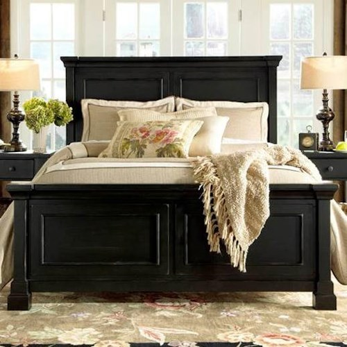 folio 21 ravenswood king panel bed with simple molding on headboard and footboard - King Panel Bed