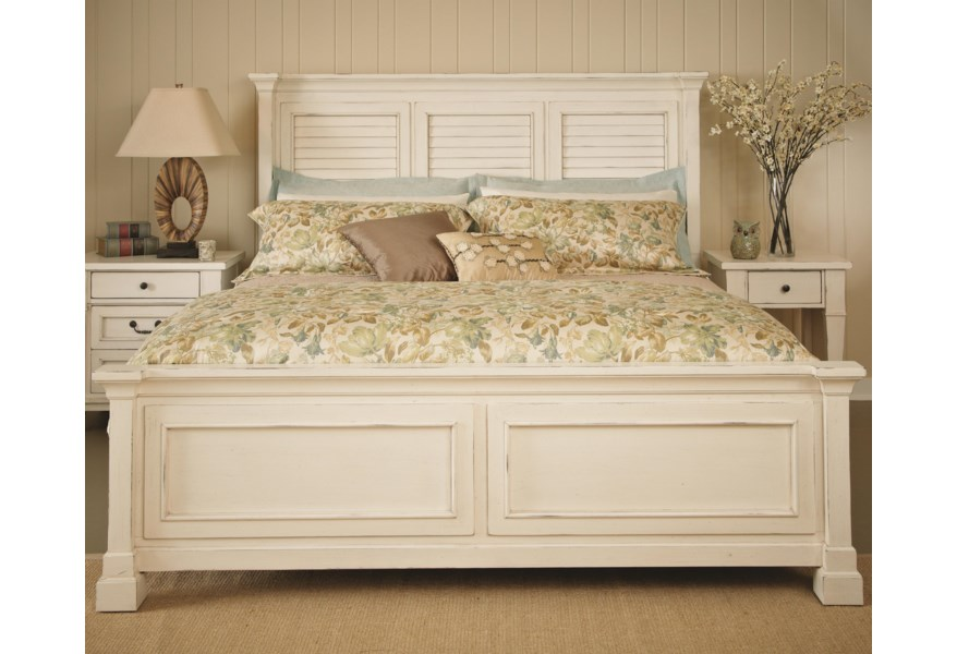 Folio 21 Stoney Creek Queen Bed With Shutter Headboard And