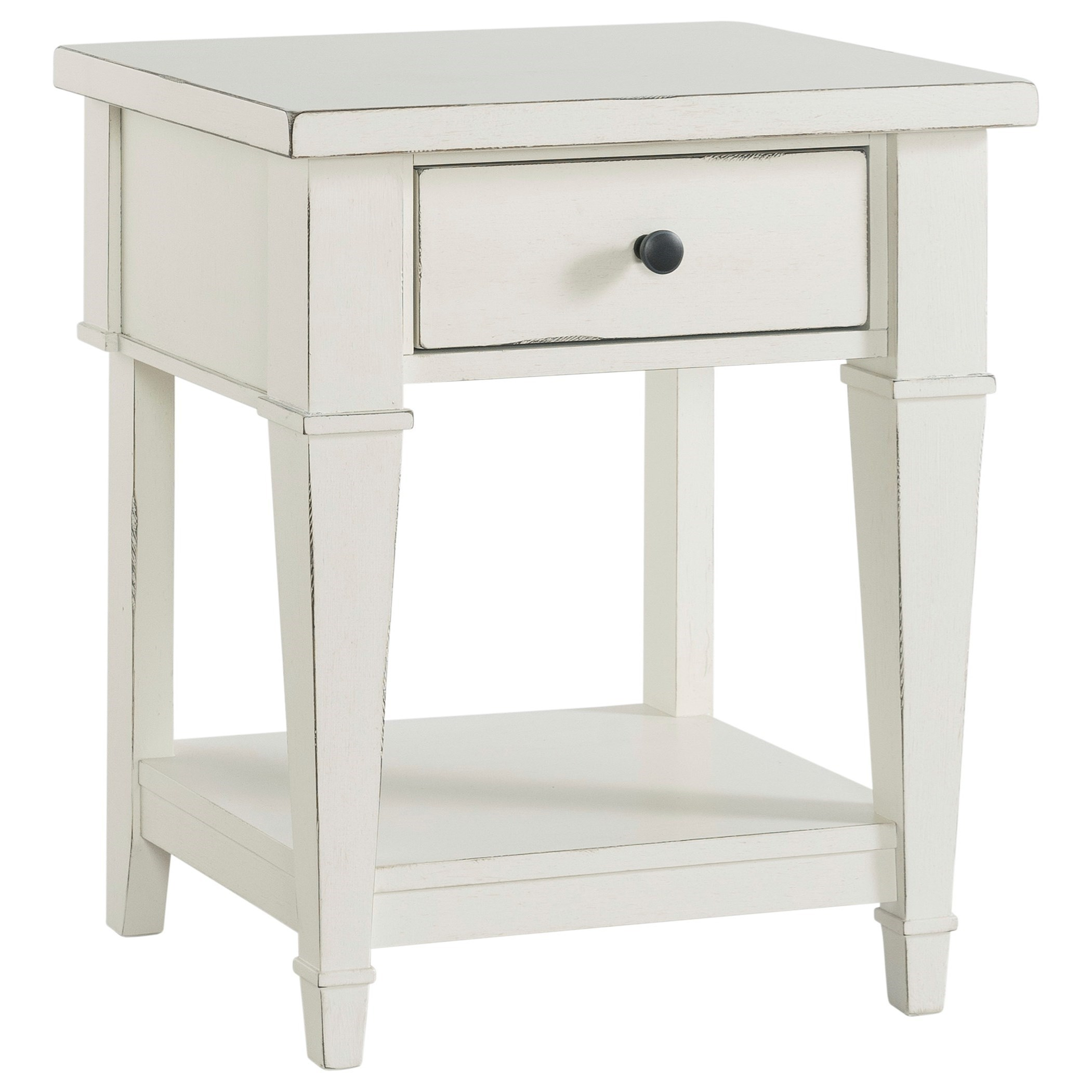 Cottage Style One Drawer Youth Nightstand w/ Open Shelf