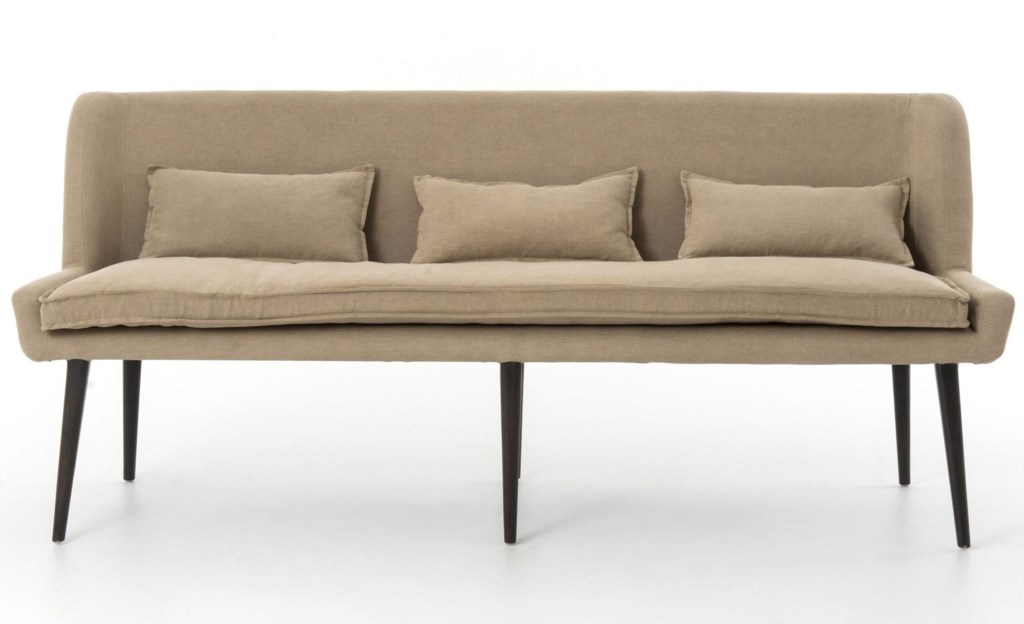 four hands abbott dining sofa with splayed legs - olinde's