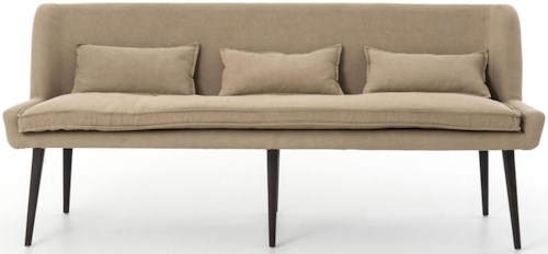 Four Hands Abbott Dining Sofa with Splayed Legs