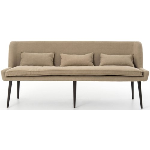 Interior Style Abbott Dining Sofa with Splayed Legs