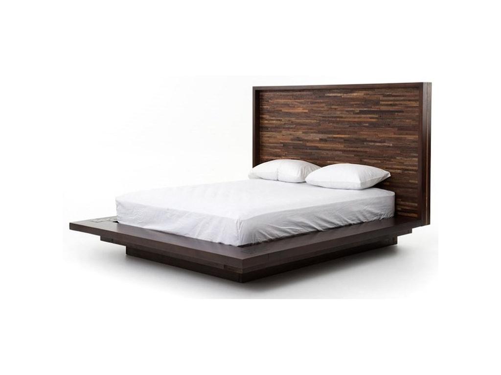Four Hands Bina Devon King Bed With Reclaimed Wood Headboard